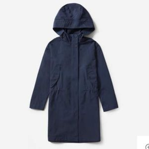 EVERLANE City Anorak Navy Blue S